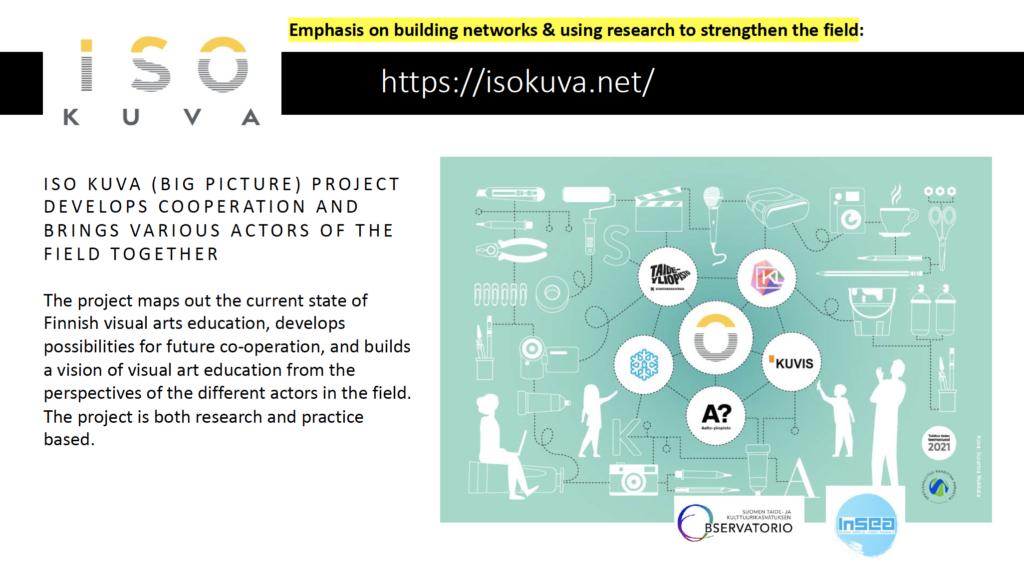 Ote Anniina Suomisen diaesityksestä, joka kertoo ISO KUVA -hankkeesta.